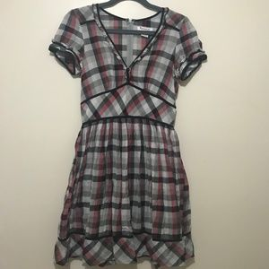 5/$30 Kensie Girl Plaid Dress - Size Large